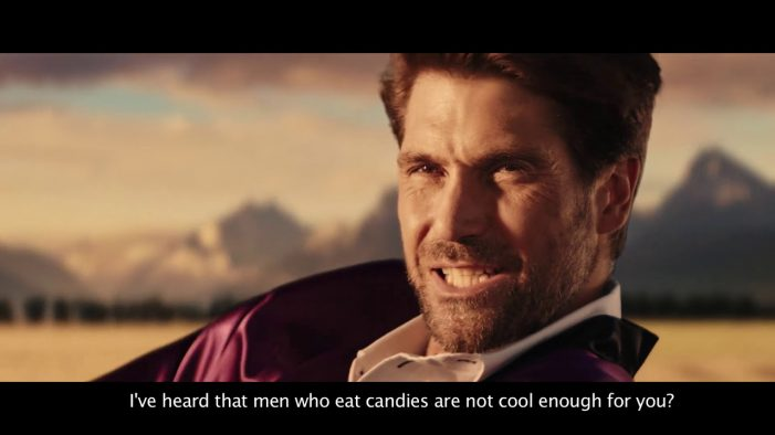 The first ever candy ad for men. Сreated in Ukraine