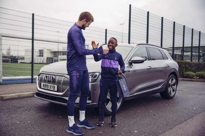 Tottenham Hotspur players asked tough questions  by Academy kids in Audi sponsorship campaign