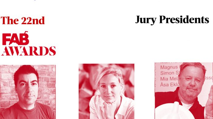 The FAB Awards announces Jury Presidents for their 22nd Year