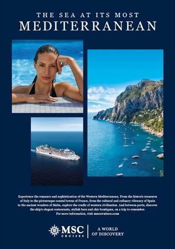 Leagas Delaney creates global turn-of-year ad campaign for MSC Cruises showcasing 'The Sea at Its Most'