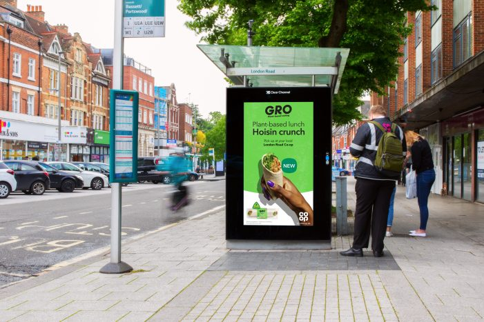 "CO-OP Uses Location-Led Out Of Home Campaign For Exclusive New Plant-Based Range ""GRO"""