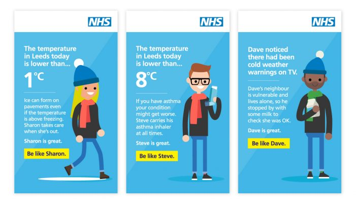 NHS launches temperature-triggered bus shelter ad campaign