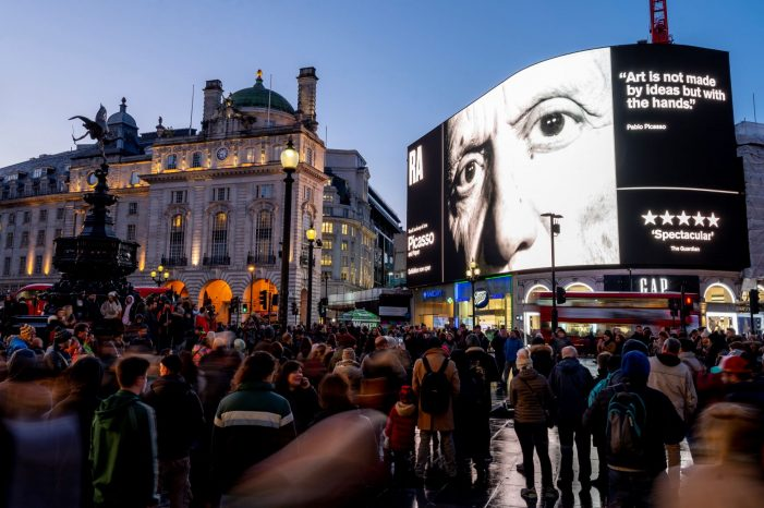 Pablo Picasso's Creative Spirit Lights Up Piccadilly in Rarely Seen Art Film Footage