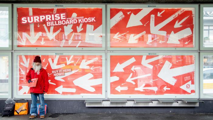 Serviceplan Suisse makes Surprise Magazine Street Vendors Visible with Billboard Kiosk