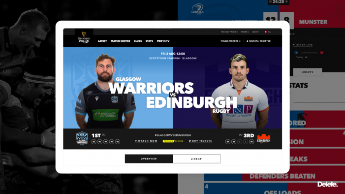 PRO14 Rugby launches its new fan experience platform.