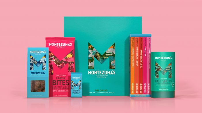 Butterfly Cannon create a big chunk of quirky, sustainable & delicious fun with their brand redesign for Montezuma's Chocolates