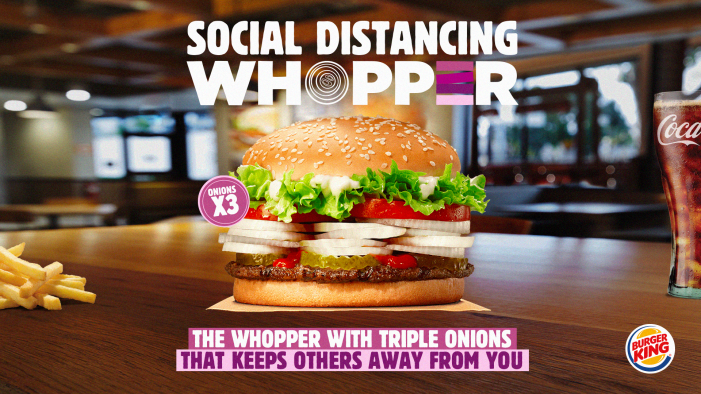 "Burger King and Wunderman Thompson launch ""The Social Distancing Whopper"