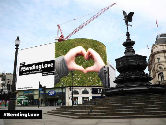 Talon is #SendingLove across the Globe in the World's Largest User Generated Digital Out of Home Campaign