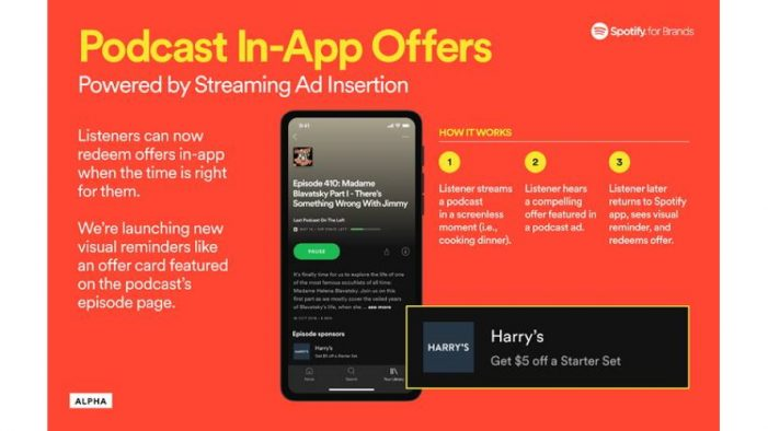 Spotify introduces interactivity to the podcast ad experience
