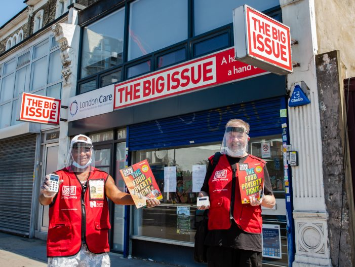 Big Issue sets out plan for vendors' safe return to selling the magazine on UK streets on 6th July