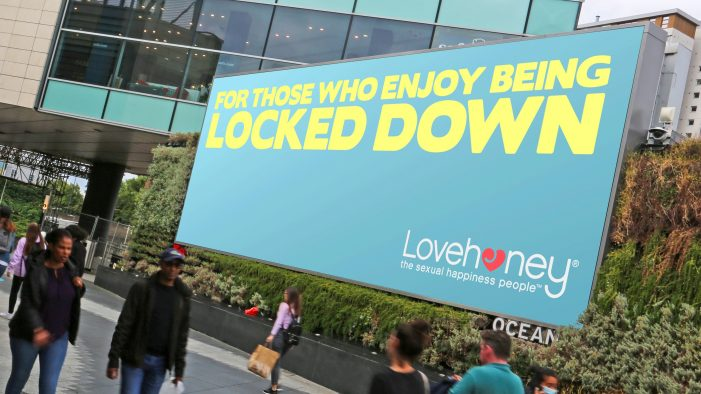 Lovehoney launches £250,000 outdoor campaign to 'raise a smile' during lockdown