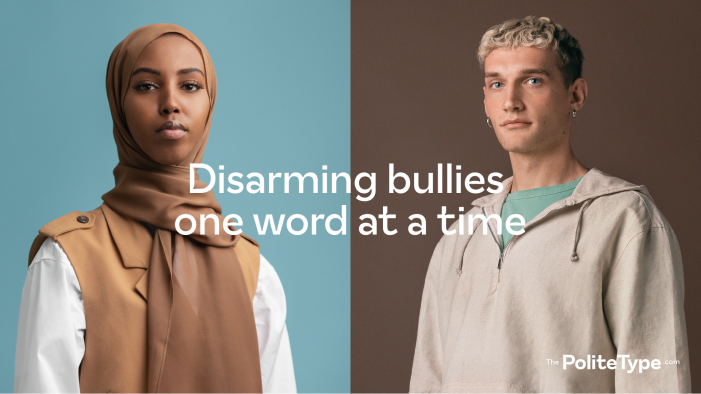 Anti-bullying innovation – new typeface forces bullies to think twice