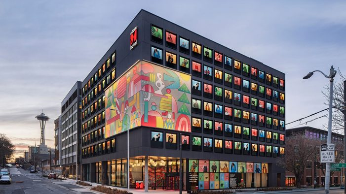 citizenM's first West Coast hotel is now open in Seattle's South Lake neighbourhood.