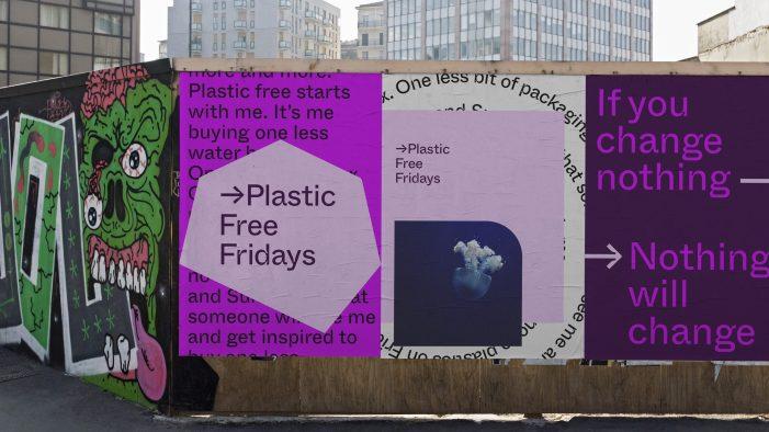 New Design Studio So Far So Good Rebrands Plastic Free Fridays For Pivotal Plastic Reduction Campaign