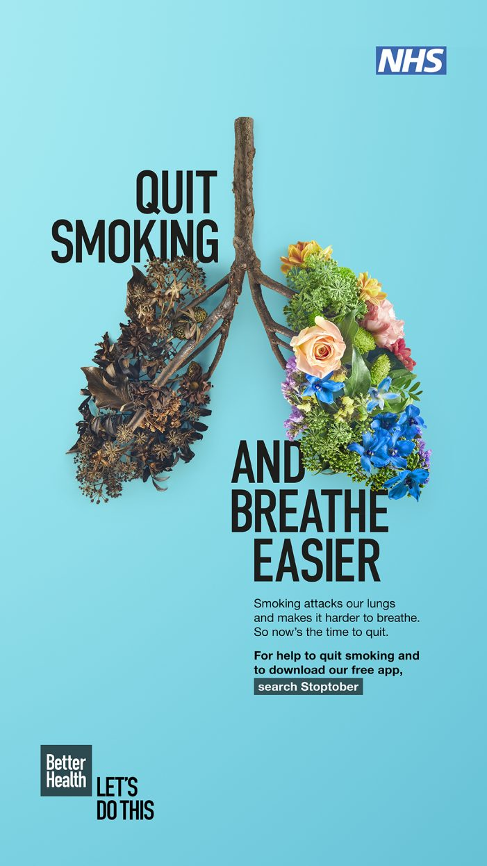 Public Health England Launch Annual Stoptober Campaign With New Creative Focusing On Lung Health
