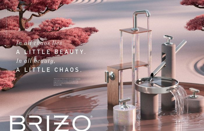 Opposites come together in Brizo's Kintsu Bath Collection.