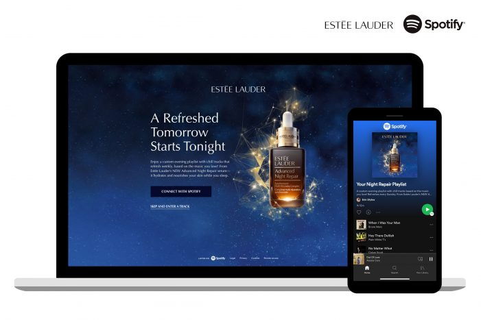 Estée Lauder Partners with Spotify to Introduce First Voice-Activated Sampling and Personalized Playlist