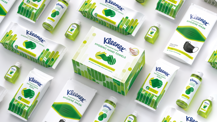 Kleenex works with Echo on Proactive Care design to provide consumers with a complete hygiene solution