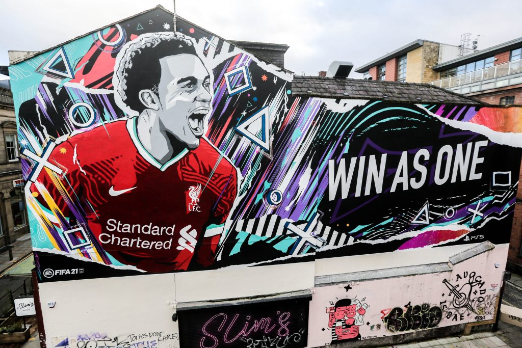 graffiti advertising EA strikes a goal with a mural campaign by Kinetic and Mural Republic for  FIFA 21 & PS5 – Marketing Communication News