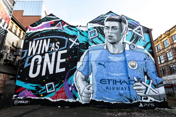 EA strikes a goal with a mural campaign by Kinetic and Mural Republic for  FIFA 21 & PS5