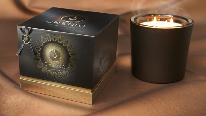 Desirable and sustainable candle pack-aging design using natural mineral powders.