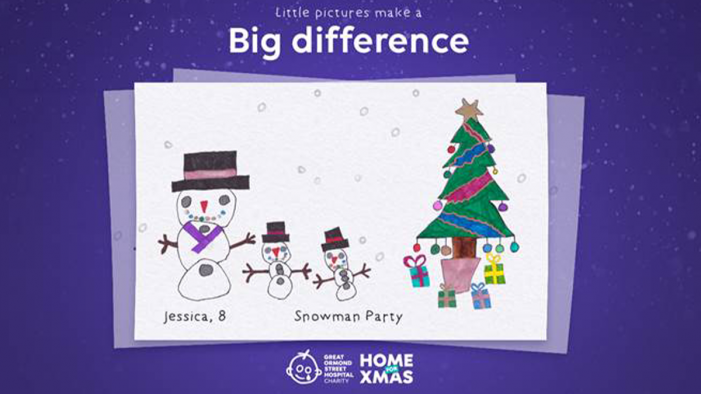 Tribal Worldwide and Great Ormond Street Hospital Children's Charity boost Christmas spirit with animated Christmas greetings drawn by young patients