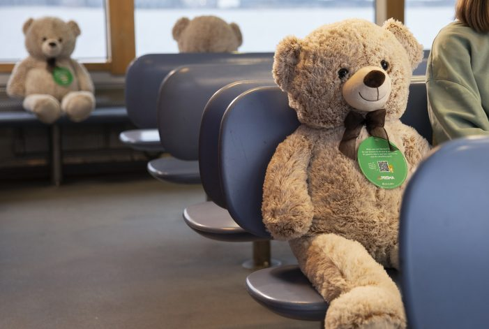 The safest place on a Finnish bus is now next to a fluffy stranger – Social distancing managed by plushies