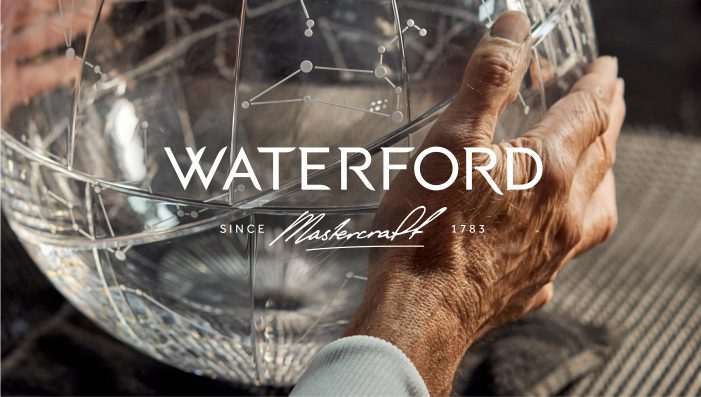 Waterford partners with Identica to create new identity celebrating centuries of craftsmanship.