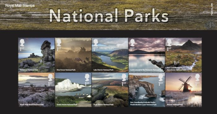 Leading branding agency Silk Pearce designs Royal Mail stamp presentation pack commemorating the UK's National Parks