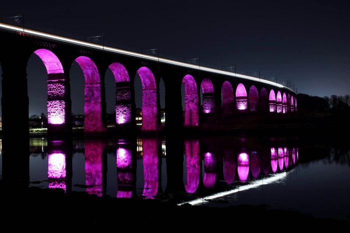 National Landmarks Throughout England And Wales Go Purple In Celebration Of Census 2021