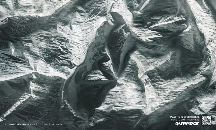 Stunning Images Of Chile Created From Plastic Bags  In Cheil's New Greenpeace Campaign To Drive Behavioural Change