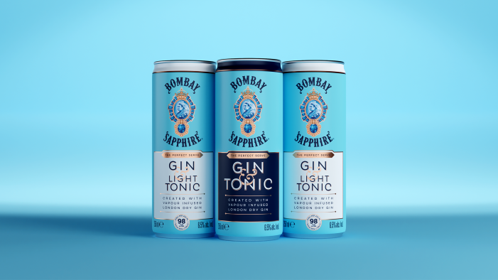 Knockout serves perfect sophistication in its design for Bombay Sapphire's new RTD offering