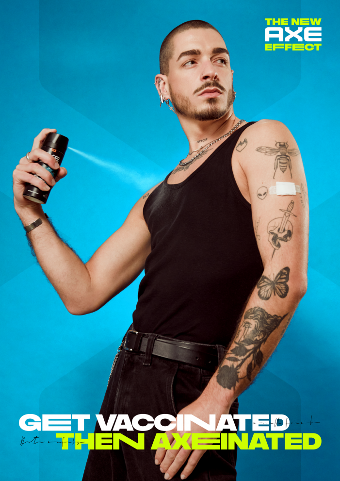 AXE Motivates Guys to Get Vaccinated then 'Get Axeinated'