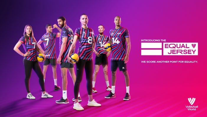 VOLLEYBALL WORLD Launches The 'EQUAL JERSEY' To Support Gender Equality In The World Of Sport