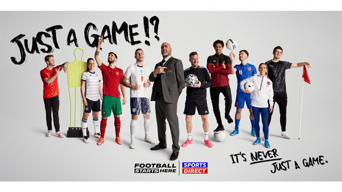 SPORTS DIRECT Launches Euros Advert, 'JUST A GAME?!', Starring Stellar Line-Up Of Stars And Legend Eric Cantona