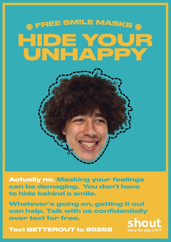 Create Not Hate and Shout 85258 address young black men's mental health with  'Don't Hide Your Unhappy' campaign