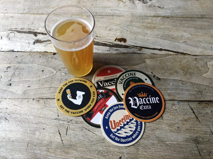 BeerVax mats to encourage pub goers to get jabbed by Grey London