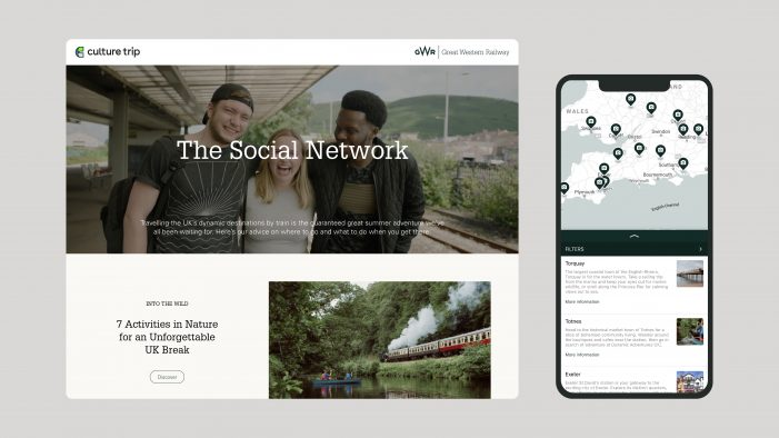 Culture Trip creates bespoke campaign for Great Western Railway encourage UK travellers to discover new places across the network
