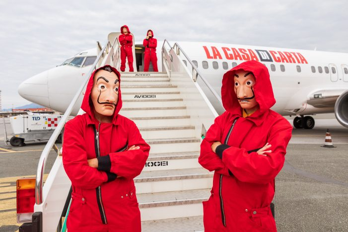 """To launch volume 1 of the last part of Money Heist, Netflix set up a """"no spoiler zone"""" for the most dreaded Italian spoiler makers."""